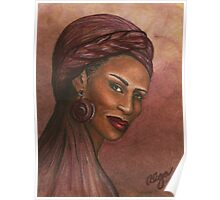 Regal Lady in Plum Poster