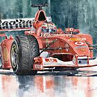 Ferrari Marlboro F 2002 Ferrari 051 Rubens Borrichello by Yuriy Shevchuk