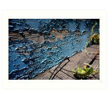 Peeling blue. Art Print