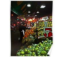 Fruit and Vegetable Stand, Brooklyn - New York City Poster