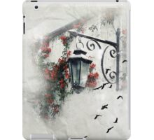 White Romantic Scene with Lantern iPad Case/Skin