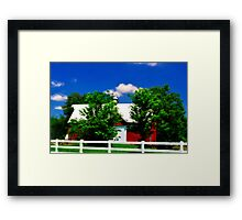 Another Red Barn Framed Print