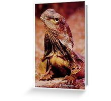 frilly portrait Greeting Card