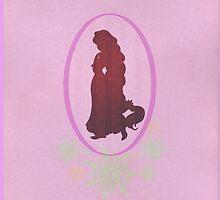 Rapunzel (Tangled) Silhouette by joshda88