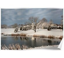 An Iowa Farmstead in Winter Poster