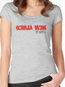Gorilla Mask Graphics DK style Women's Fitted Scoop T-Shirt