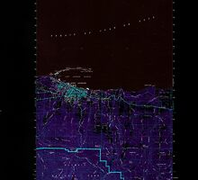 USGS Topo Map Washington State WA Port Angeles 243207 1961 62500 Inverted by wetdryvac