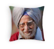 Elder Sikh Throw Pillow