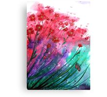 Flowers - Dancing Poppies Canvas Print