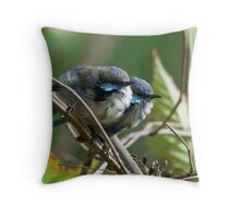 """Twins"" Throw Pillow"