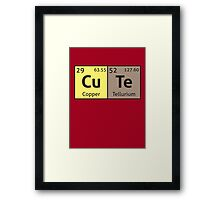 Periodic Table - Cute Framed Print