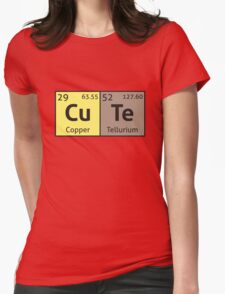 Periodic Table - Cute Womens Fitted T-Shirt