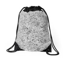 White Flora Drawstring Bag