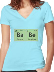 Periodic Table - Babe Women's Fitted V-Neck T-Shirt