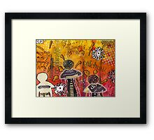 The Angel Brigade - Cropped Version Framed Print