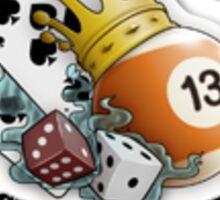 lucky thirteen Sticker