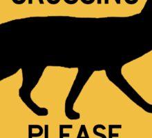 Coyote Crossing, Traffic Warning Sign, USA Sticker