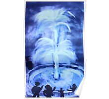 The Fountain, watercolor Poster