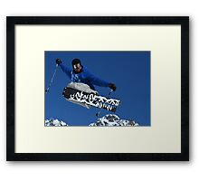 Ski jumper Framed Print