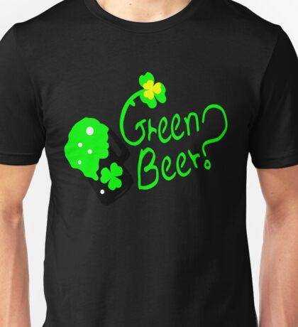 Shamrock Green Beer?  st.patty's day Unisex T-Shirt