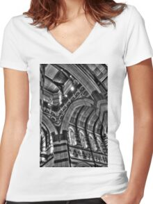 0963 Inside St Pauls Cathedral, Melbourne  Women's Fitted V-Neck T-Shirt