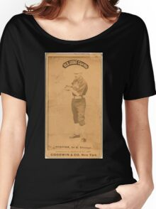 Benjamin K Edwards Collection Fred Pfeffer Chicago White Stockings baseball card portrait 004 Women's Relaxed Fit T-Shirt