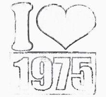 Vintage I love 1975 T-Shirt Baby Tee