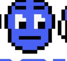 Blue Mega-Man Group Sticker
