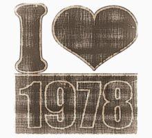 I heart 1978 Vintage T-Shirt One Piece - Short Sleeve