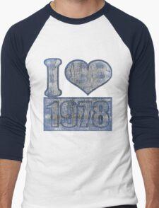 I heart 1978 Vintage Men's Baseball ¾ T-Shirt