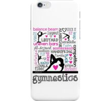 Gymnastics Tri-Color Typography iPhone Case/Skin