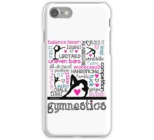 Gymnastics Tri-Color Typography iPhone Case/Skin