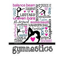 Gymnastics Tri-Color Typography Photographic Print