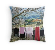 Drying on countryside - Toscana - Italy Throw Pillow