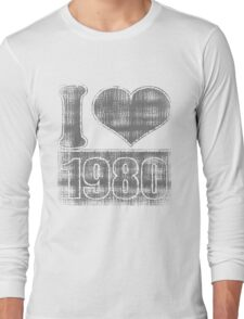 I heart 1980 Vintage T-Shirt Long Sleeve T-Shirt