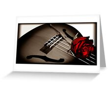 Rose On The Grey. Greeting Card