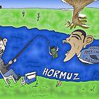 Binary Options Caricature - President Obama, President Ahmedinajad and the Strait of Hormuz by Binary-Options