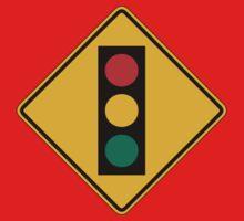 Signal Ahead, Traffic Warning Sign, USA Kids Tee
