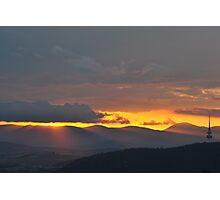 sunbeams of a sunset Photographic Print
