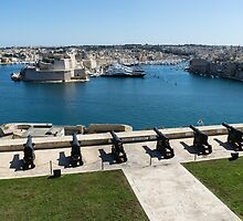 Guarding the Expensive Boats - Valletta's Grand Harbour Saluting Battery by Georgia Mizuleva