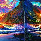 Island Sunset Diptych by jyruff