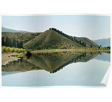 Cromwell Dam Reflections #2, New Zealand Poster