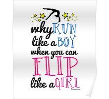 Gymnastics - Flip Like a Girl Poster