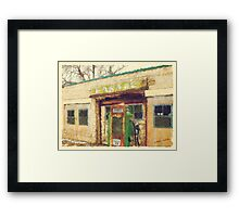 Old Scipio Garage Framed Print