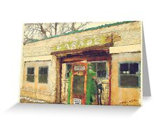 Old Scipio Garage Greeting Card