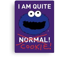 COOKIE MONSTER (WHITE TEXT) Canvas Print