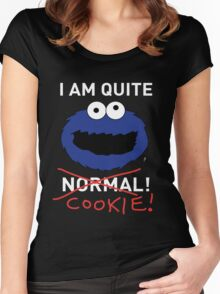 COOKIE MONSTER (WHITE TEXT) Women's Fitted Scoop T-Shirt