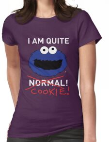 COOKIE MONSTER (WHITE TEXT) Womens Fitted T-Shirt