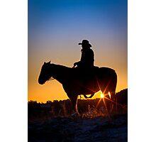 Sunrise Cowboy Photographic Print