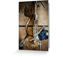Spurs on Wall Greeting Card